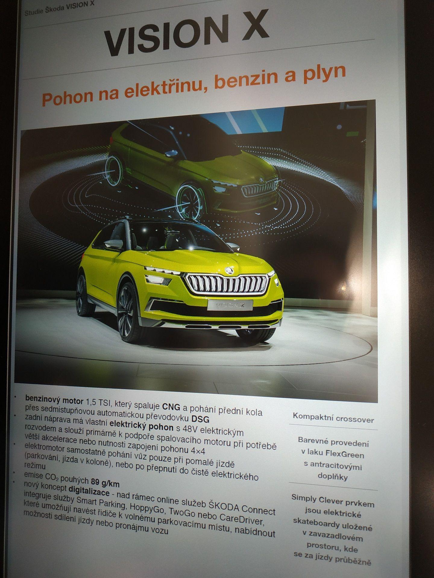 Škoda Vision X - text